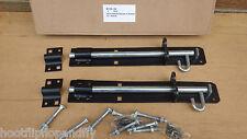 """2 x 10"""" 250mm BLACK JAPANNED IRON BRENTON PADBOLT  PADLOCK DOOR TOWER BOLT GATE"""