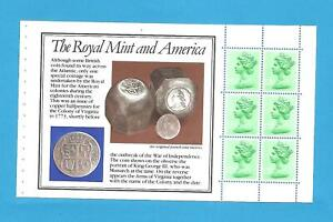 Page from Stamp Booklet Royal mint.