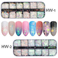 Fashion 3D Glitter Mermaid Sequins Paillette Manicure Nail Art Tips Decor WE