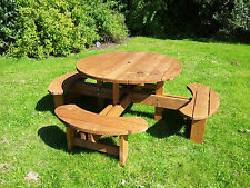 Supersized Excalibur round picnic table heavy Duty commercial grade 1300mm top