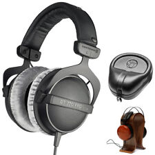 BeyerDynamic DT 770-PRO Studio Headphones 80 Ohms w/ Wood Headphone Stand Bundle