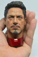 1/6 Scale Tony Stark Head Sculpt for MK43 MK45 Hot Toys T800