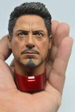 1/6 Scale Tony Stark Head Sculpt for MK43 MK45 Hot Toys T800