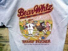 BEAR WHIZ RELIEF PITCHER BEER T-SHIRT BASEBALL BEARWHIZ