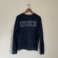 Beautiful Vintage Nike Spell Out Sweatshirt Pullover Jumper Small Navy