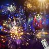 LED Fuoco D'Artificio Luci Fairy Stringa Luci Telecomando Natale Matrimonio