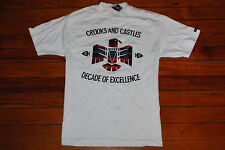 """Men's Crooks and Castles """"Decade of Excellence"""" White Graphic T-shirt (Medium)"""