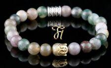 Indian Agate Bracelet Pearl Bracelet Buddha Head Gold 0 5/16in