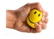 1 x Happy Yellow Foam Ball Smiley Face Stress Relief Squeeze Bouncy Fidget Toy