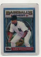 1993 Topps Finest #2 Lou Whitaker Detroit Tigers Baseball Card