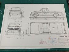 VW Caddy Typ 14 D 1979 Konstruktionszeichnung