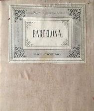 CATALUÑA, BARCELONA. Francisco Coello. Mapa grabado original. Madrid 1860