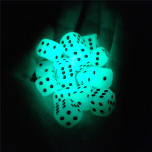 5pcs14mm rounded noctilucent dark dice for ktv bar light emitting dice&KN