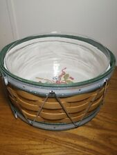 Longaberger Basket: 2012 Christmas Collection Green Drum Combo