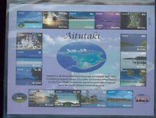 Aitutaki #561a Excellent État, Nh Feuille de 15 - Island Paysage/Plages/Tourism-