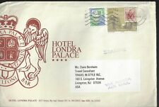 Italy Large Envelope from Hotel Londra Venice to Usa