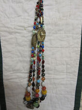 3 Strand Imported Bead Necklace