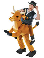 Deluxe Adult Bull Step In Ride On Animal Costumes Funny Pantomine Fancy Dress
