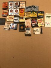 25 Coal, Gas, Oil Ads  Pre-1950 MATCHBook Covers Gulf Shell Acme Full Length Etc