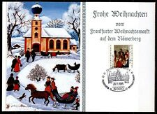 Weihnachten. Weihnachtsmarkt in Frankfurt. Sonderkarte.SoSt. BRD 1985