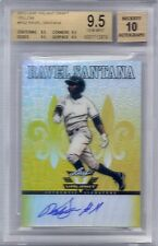 BGS 9.5 2012 Leaf Valiant YELLOW AUTO Ravel Santana RC #d 8/10
