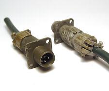 2x ITT Cannon Stecker, 3-polig, 10SL-3P, MIL Spec mit Montage-Flansch