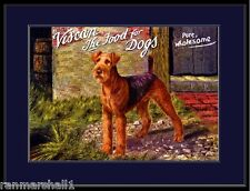 English Print Airedale Terrier Dog Biscuit Advertisement Art Picture Poster