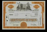 MADISON SQUARE GARDEN CORPORATION NEW YORK NY old stock 1974  iss to A G Becker