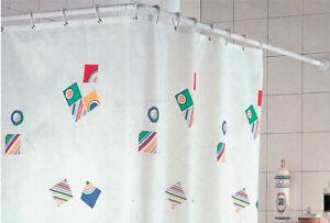 telaio per vasca da bagno in alluminio bianco cm 80x160 Ø 25 mm per tenda