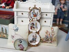 Dollhouse Miniature Beatrix Potter Artisan Reutter Plate Rack Pillow Lot 1:12