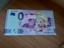 ZERO EURO NOTE NEW THEMATIC CAT AND DOG 2020