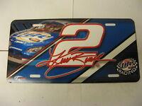 Kurt Busch Miller Lite Racing 2 Front Booster License Plate