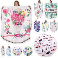 Women Shawl Beach Towel Round Cotton Swimwear Blanket Cover-Up Beach Yoga Mat