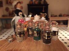 Dolls House Miniature Shop Kitchen Pantry Accessory Filled Storage Spice Jars