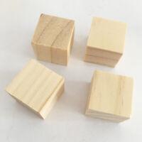 UK! 10/50PCs Natural Wooden Alphabet Letter Cube Wood Beads 10-25mm Craft DIY