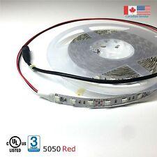 Super Bright LED Strip Light 5050 UL Listed 16Ft 12VDC Red Colour 288 LEDs