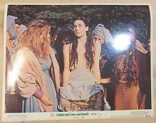 "A Walk with Love and Death 11""x 14"" orig. Lobby card W/Anjelica Huston ""topless"""
