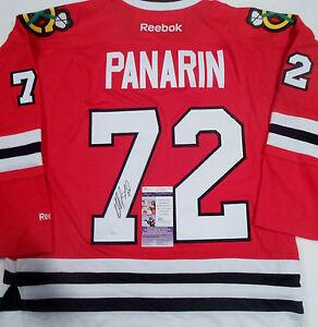 Artemi Panarin Signed Chicago Blackhawks L Authentic Jersey w/JSA COA P26483