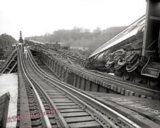 Photograph of the Crescent Limited Train  Wreck / Accident Year 1933  8x10