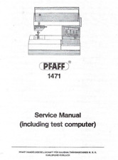 PFAFF Creative 1471 Sewing Machine Repair / Service Manual PDF Download