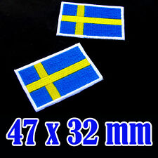 1x Sweden Flag Embroidered Patch Swedish Iron On National Scandinavian Stockholm