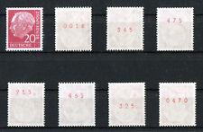 1 x Bund 185 y R Heuss Lumogen postfrisch mit roter Zählnummer aus Heuss I 1960