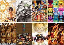 One Piece Luffy Ace Polypropylen 8 Stücke A3 Poster Wand Kunst