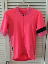 Rapha Pro Team Short Sleeve Cycling Jersey Size XS Bright Pink/High Vis