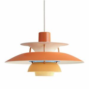 Auth PH5 Pendant Lamp Mini Hanging Light Orange Louis Poulsen Poul Henningsen