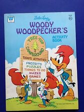 Walter Lantz 1976 Woody Woodpecker Activity Coloring Book #1643 Unused Clean