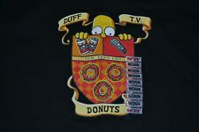 The Simpsons Homer Simpson Coat Of Arms T Shirt Medium Donuts Duff Beer TV New