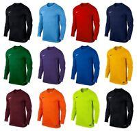 Nike Boys T Shirt Long Sleeve Park Kids Football Shirt Sports Training Shirts