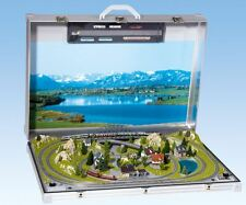 NOCH 88281 Z gauge Deluxe Two Train Briefcase Layout Tessin w/Rokuhan Track NEW