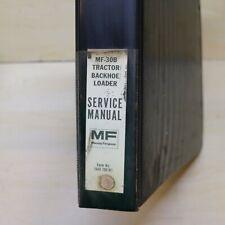 New Listingmassey Ferguson Mf 30b Backhoe Loader Repair Shop Service Manual Overhaul Book